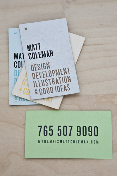 business card screen printing