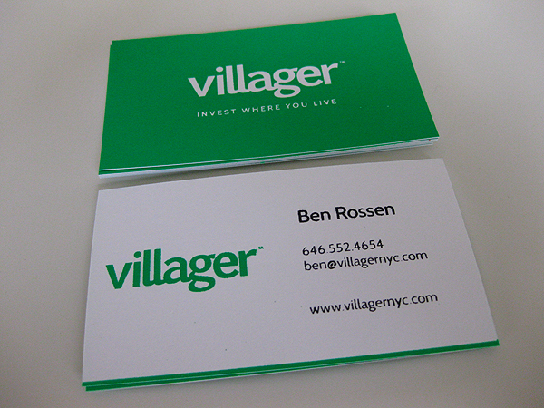screen printed business cards