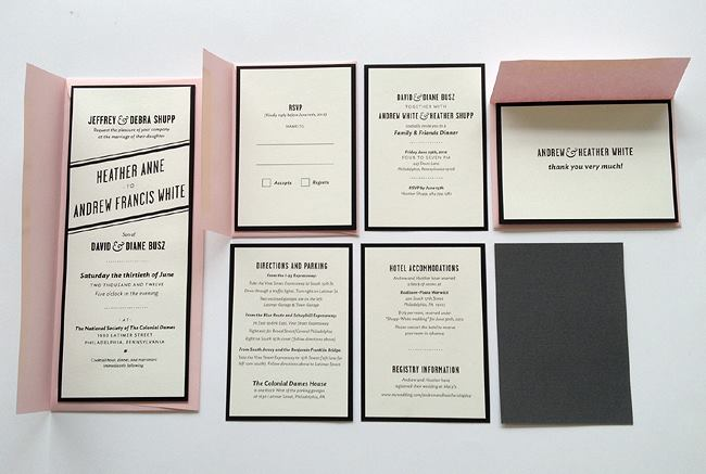 Wedding Invitation Packages.Sire Press Screen Printed Wedding Invitation Packages Event