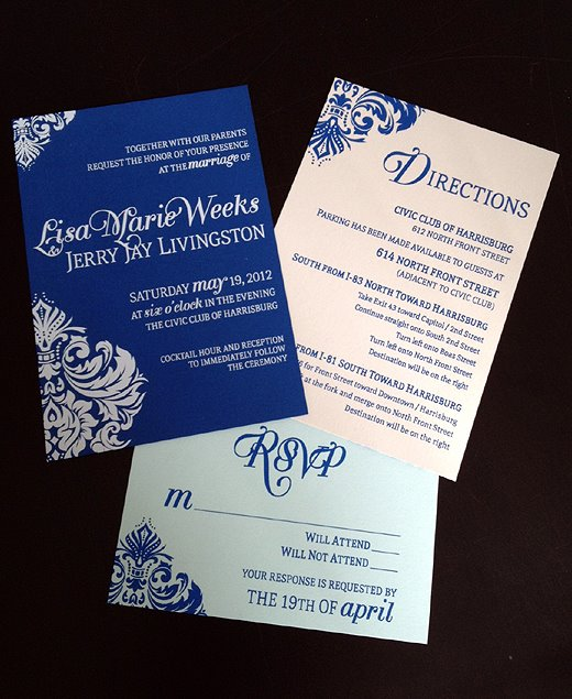 Screen Printed Wedding Invitation