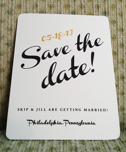 Wedding Invitation Screen Printed Save The Date